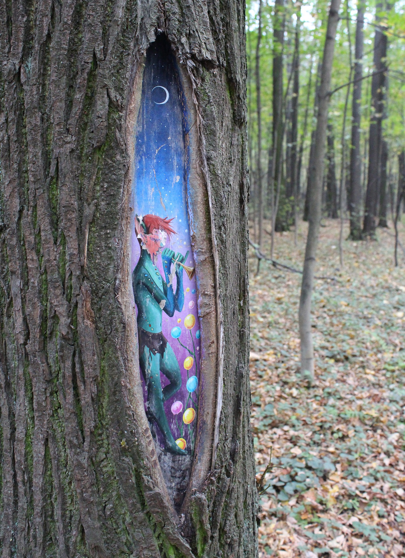 talking flash fiction fairy in a tree