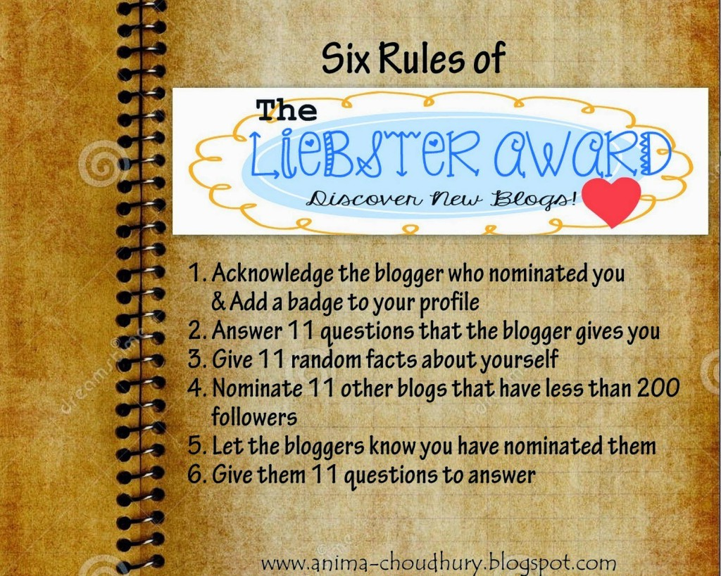 Rules for Liebster Award